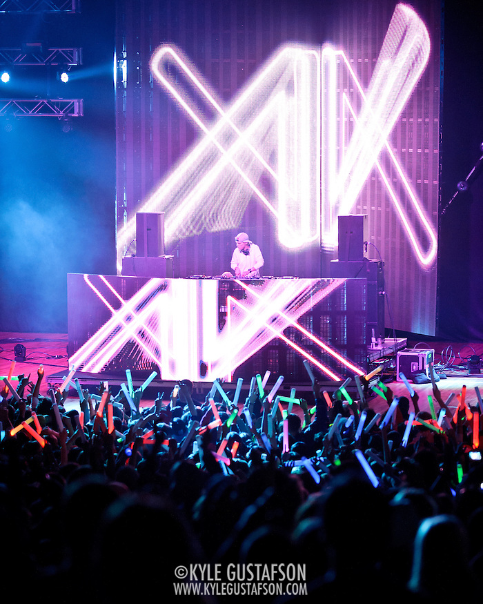 COLUMBIA, MD - April 28th, 2012 -  Swedish DJ Avicii headlines the 2012 Sweetlife Food and Music Festival at Merriweather Post Pavilion in Columbia, MD.  After a long day of rain and cold weather, fans went crazy for his brand of electronic dance music. (Photo by Kyle Gustafson/For The Washington Post) (Kyle Gustafson/FTWP)