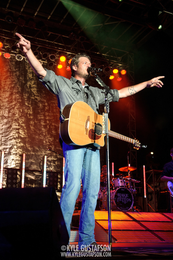 LUTHERVILLE-TIMONIUM, MD - September 3rd, 2011 - Blake Shelton performs at the Maryland State Fair. One of the co-hosts of NBC's The Voice, Shelton released his latest album, Red River Blue, in July. (Photo by Kyle Gustafson/For The Washington Post) (Kyle Gustafson/FTWP)