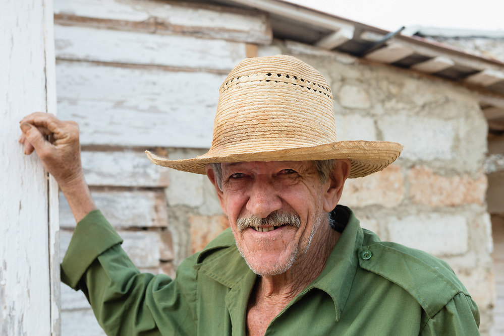 Portrait of Cuban farmer at his home in Vinales (Mark Eden)
