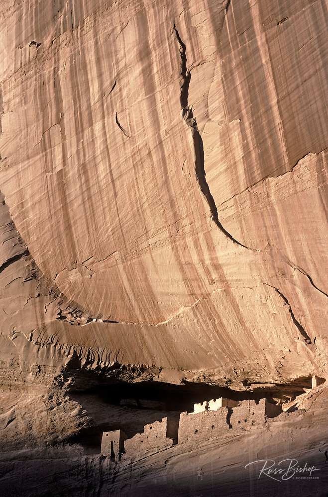 Evening light on White House Ruin, Canyon de Chelly National Monument, Arizona