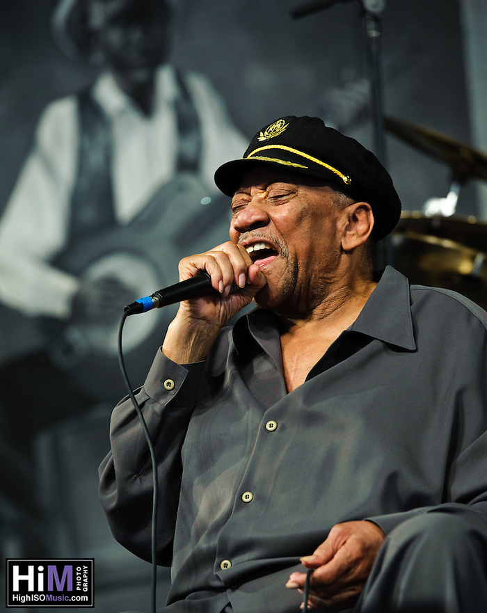 "Bobby ""Blue"" Bland set at Jazz Fest 2011 in New Orleans, LA on day 6. (Golden G. Richard III)"