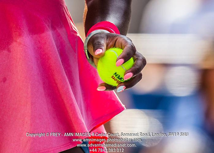 Serena Williams Tennis - US Open  - Grand Slam -  Flushing Meadows  2013 -  New York - USA - United States of America - Thursday 29th August 2013.  © AMN Images, 8 Cedar Court, Somerset Road, London, SW19 5HU Tel - +44 7843383012 mfrey@advantagemedianet.com www.amnimages.photoshelter.com www.advantagemedianet.com www.tennishead.net (FREY - AMN IMAGES)