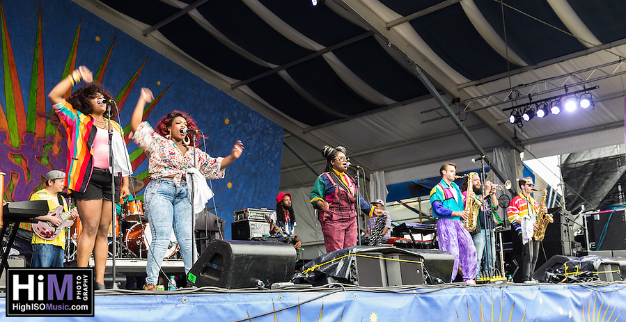 Tank and the Bangas at the 2015 New Orleans Jazz and Heritage Festival. (HIGH ISO Music, LLC)