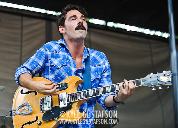 Local Natives play the B Stage at the 2010 Pitchfork Music Festival (Photo by Kyle Gustafson)