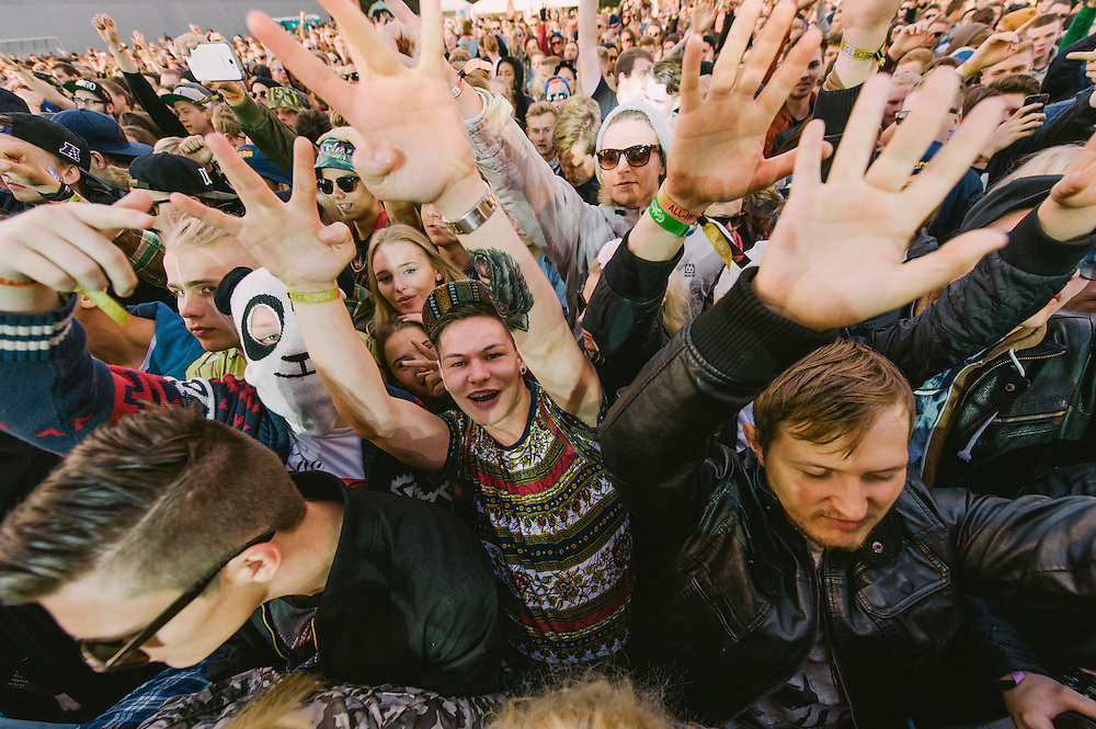 Photos of general crowd atmosphere at Secret Solstice Music Festival 2014 in Reykjavík, Iceland. June 22, 2014. Copyright © 2014 Matthew Eisman. All Rights Reserved (Matthew Eisman/Photo by Matthew Eisman)