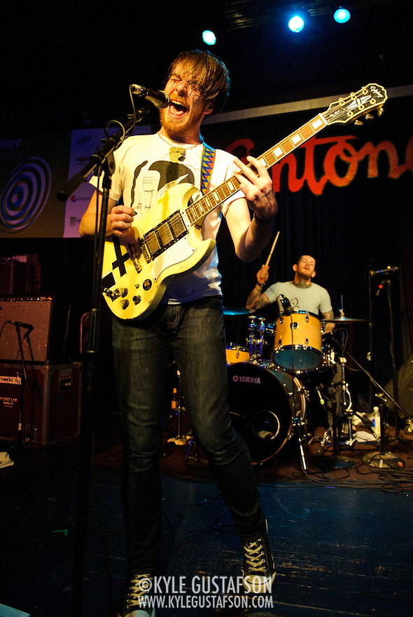 AUSTIN, TX - March 17th: Pulled Apart By Horses perform at the Live4ever.com British Music showcase at Antone's as part of the 2011 South by Southwest Festival. (Photo by Kyle Gustafson) (Photo by Kyle Gustafson / For The Washington Post)