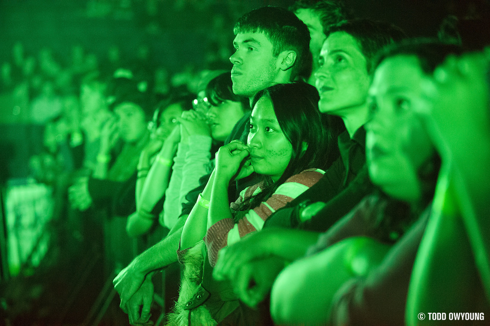 Fans during Radiohead's performance at the Scottrade Center in St. Louis on March 9, 2012. (Todd Owyoung)