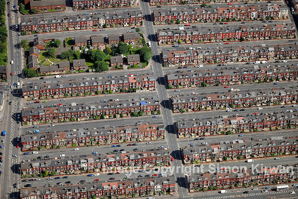 Harehills Housing, Leeds, West Yorkshire from the Air - aerial photo by Simon Kirwan
