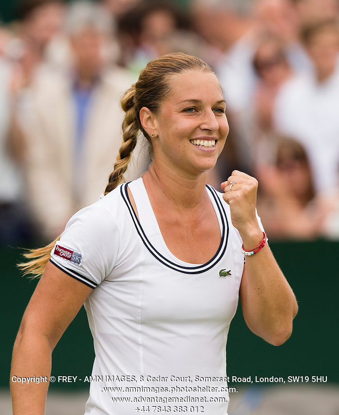 Dominika Cibulkova Tennis - The Championships Wimbledon  - Grand Slam -  All England Lawn Tennis Club  2013 -  Wimbledon - London - United Kingdom - Thursday 27th June  2013.  © AMN Images, 8 Cedar Court, Somerset Road, London, SW19 5HU Tel - +44 7843383012 mfrey@advantagemedianet.com www.amnimages.photoshelter.com www.advantagemedianet.com www.tennishead.net (FREY - AMN IMAGES)
