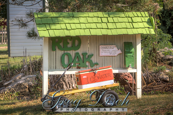 """Red Oak II is the creation of artist Lowell Davis, who's family had pioneered the town of Red Oak. After success as an artist, he started moving his old home town to his farm 32 miles away creating Red Oak II. Lowell now lives in what he considers his """"Masterpiece"""" in the Belle Starr house where the famous outlaw was raised. Red Oak II is located a few miles Northeast of Carthage Missouri, just off Route 66. (Greg Disch gdisch@gregdisch.com)"""