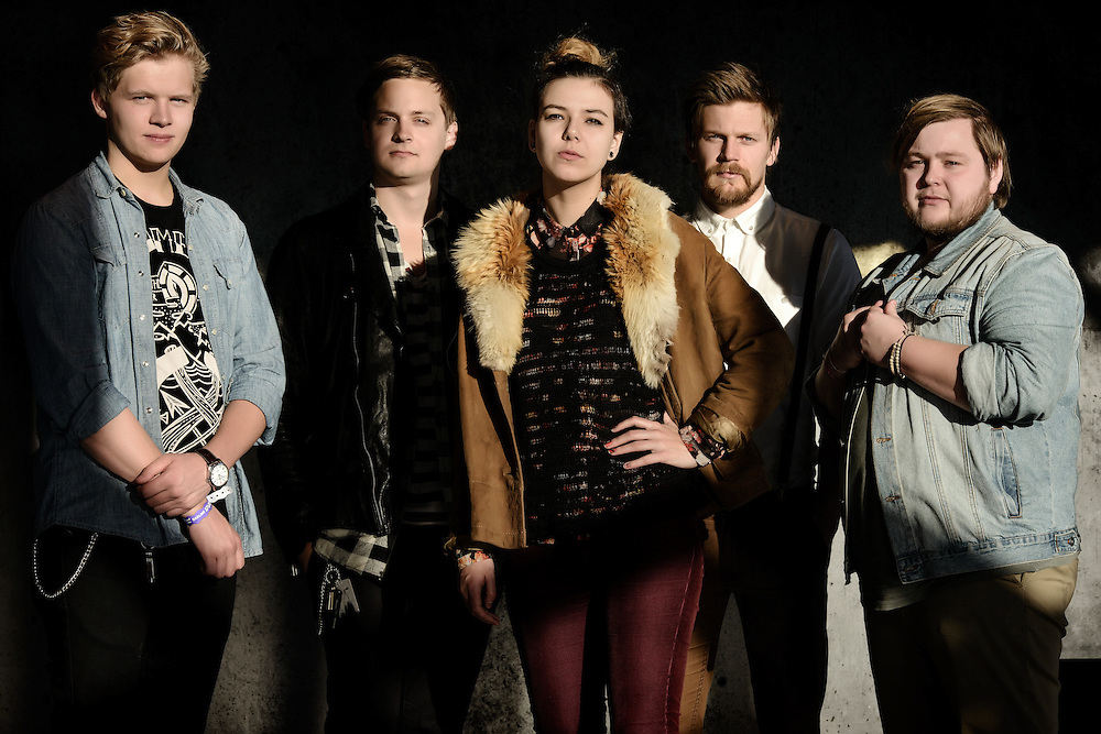 Portraits of the Icelandic band Of Monsters And Men taken on-location at Harpa Concert Hall in Reykjavik, Iceland. October 31, 2012. Copyright © 2012 Matthew Eisman. All Rights Reserved. (Matthew Eisman/Photo by Matthew Eisman)