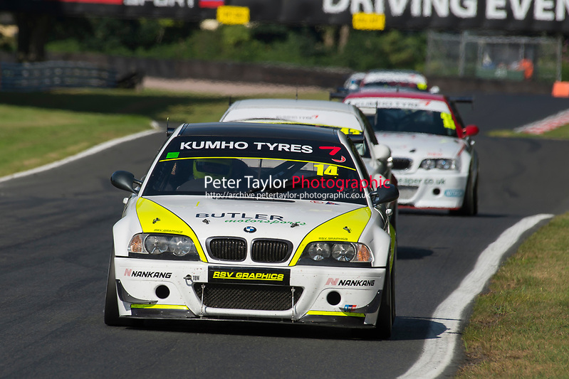#14 Colin Wells BMW E46 CSL 3200  during Kumho BMW Championship as part of the BARC National Car and Kart Championships Race Day at Oulton Park, Little Budworth, Cheshire, United Kingdom. July 08 2017. World Copyright Peter Taylor/PSP. Copy of publication required for printed pictures.  Every used picture is fee-liable. http://archive.petertaylor-photographic.co.uk (Peter Taylor/PSP)