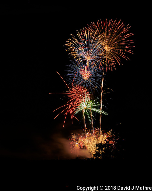 Montgomery Township Independence Day Fireworks. Image taken with a Nikon D850 camera and 105 mm f/1.4 lens (ISO 64, 105 mm, f/11, 8 sec) (David J Mathre)