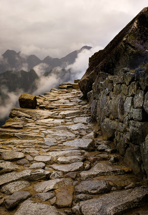 MACHU PICCHU, PERU - CIRCA OCTOBER 2015: Path in Machu Picchu in Peru (Daniel Korzeniewski)