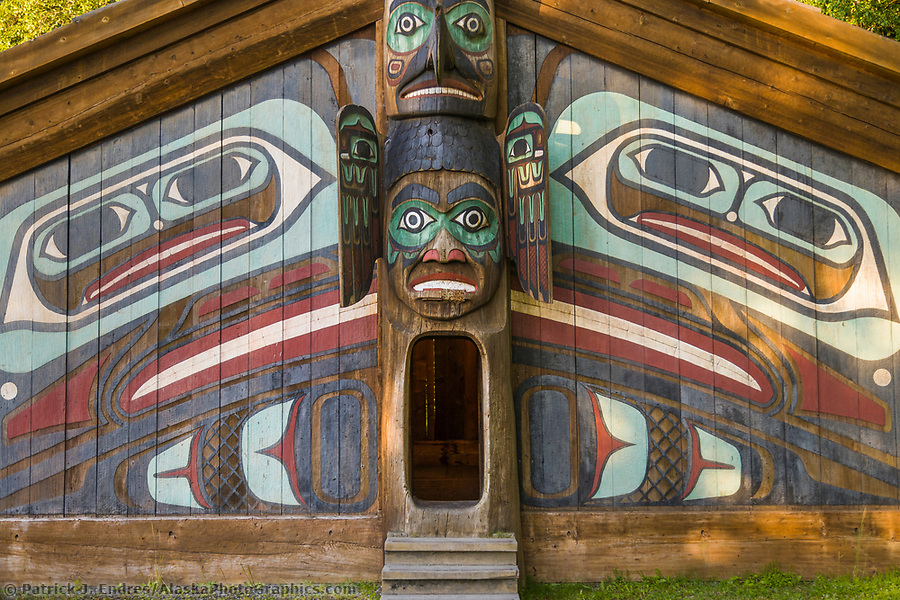 Ketchikan Alaska photos: Clan house a the Totem Bight State Historical Site, Ketchikan, Alaska. (Patrick J. Endres / AlaskaPhotoGraphics.com)