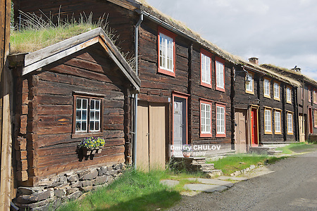 Traditional houses of the copper mines town of Roros, Norway. Roros town is declared a UNESCO World Heritage site. (Dmitry Chulov)