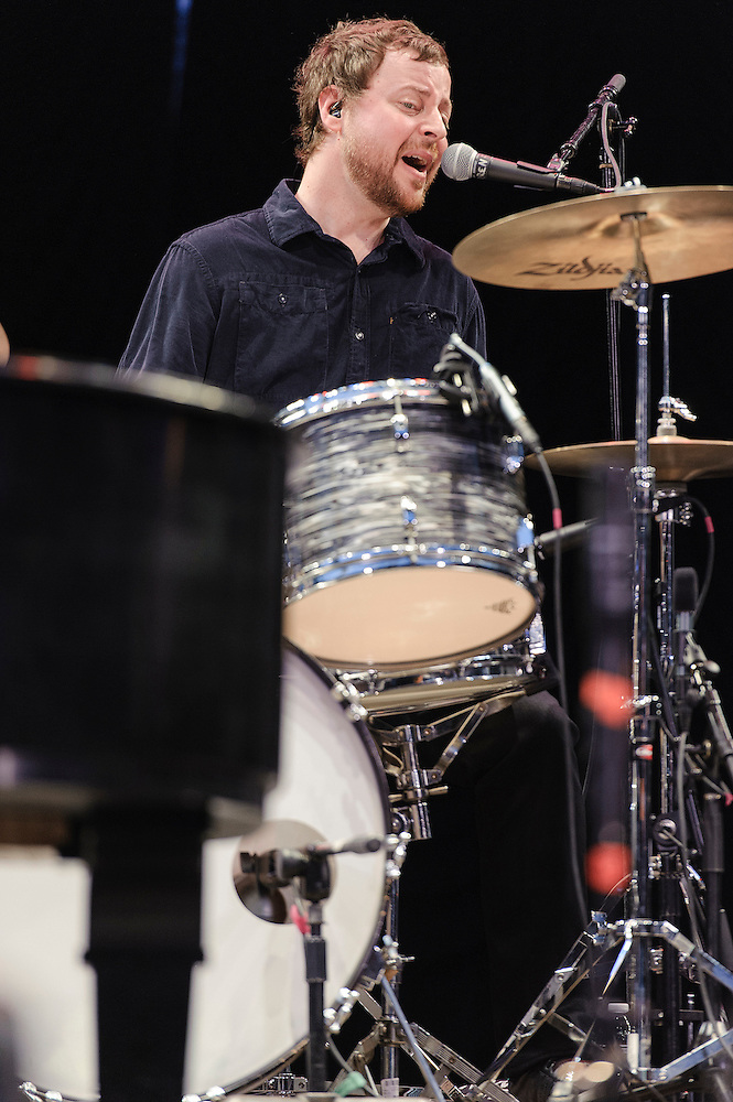 Photos of the band Ben Folds Five performing live at Central Park SummerStage, NYC. September 14, 2012. Copyright © 2012 Matthew Eisman. All Rights Reserved. (Photo by Matthew Eisman/WireImage)