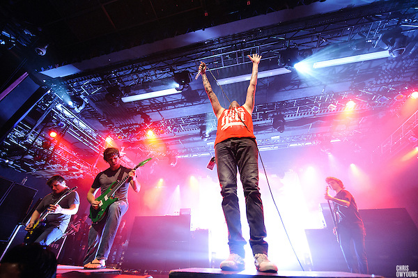 August Burns Red performs at Best Buy Theater in Times Square on November 24, 2010. New York City (Chris Owyoung)