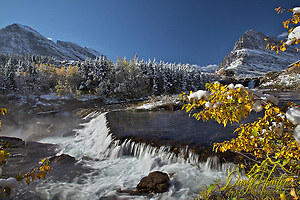 "Autumn, Swiftcurrent Falls, Mt. Grinnell in Glacier National Park (© Daryl Hunter's ""The Hole Picture""/Daryl L. Hunter)"
