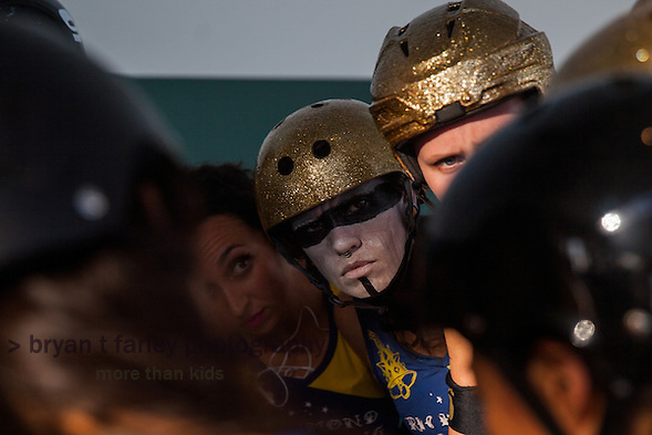 The Richmond Wrecking Belles defeat the San Francisco ShEvil Dead 187-139 for third place in the teams' final league bout of the season. The Bay Area Derby Girls Championships were held on October 10, 2015 in Richmond, California. (bryan farley)