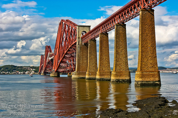 A view of the Firth of Forth Bridge in South Queensferry Scotland (Ian C Whitworth)