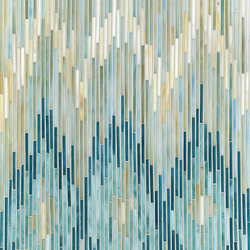 "Name: Loom Style: Contemporary Product Number: CB1025LOOM  (19""x19"") Description:Loom, a jewel glass mosaic shown in Quartz, Agate, Aquamarine, Tanzanite and Turquoise, is part of the Ikat Collection by New Ravenna Mosaics. (New Ravenna Mosaics 2010)"