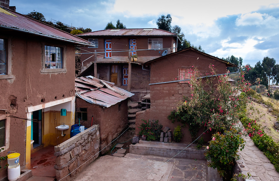 PUNO, PERU - CIRCA OCTOBER 2015: Typical tourist home-stay of the Island of Taquile in Lake Titicaca. (Daniel Korzeniewski)