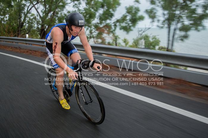 Joseph Lampe (AUS), June 8, 2014 - TRIATHLON : Ironman Cairns 70.3 / Cairns Airport Adventure Festival, Palm Cove - Captain Cook Highway - Cairns Esplanade, Cairns, Queensland, Australia. Credit: Lucas Wroe (Lucas Wroe)