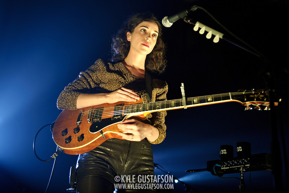 WASHINGTON, DC - October 31st, 2011 - Annie Clark, aka St. Vincent, performs at the 9:30 Club in Washington DC. Her third album, Strange Mercy, was released in September and reached  #19 on the US Billboard 200. (Photo by Kyle Gustafson/For The Washington Post) (Kyle Gustafson/FTWP)