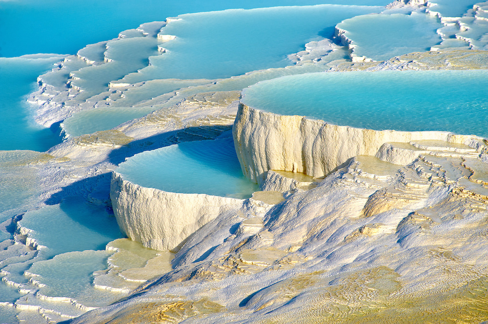 Photo & Image  of Pamukkale Travetine Terrace, Turkey. Images of the white Calcium carbonate rock formations. Buy as stock photos or as photo art prints. 5 (Paul E Williams)
