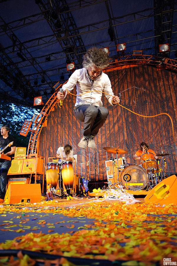 The Flaming Lips perform on July 26, 2010 at the Central Park SummerStage in New York City (All Rights Reserved Copyright © 2010 Chris Owyoung)