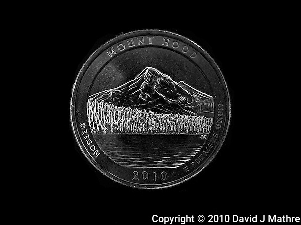 Mount Hood National Park Oregon. 2010 National Park Quarters (David J Mathre)