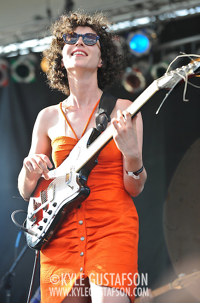 Annie Clark, aka St. Vincent, performs at the 2010 Pitchfork Music Festival in Chicago, IL. (Photo by Kyle Gustafson)