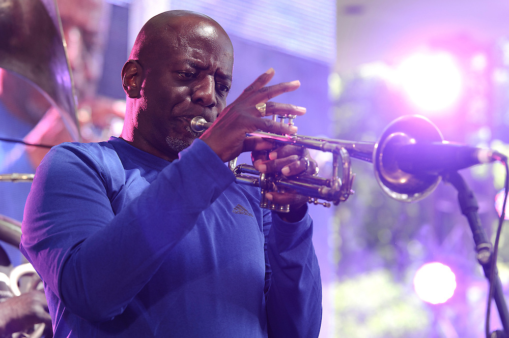 Photos of the New Orleans Brass Band performing at The Great GoogaMooga festival at Prospect Park in Brooklyn, NY. May 20, 2012. Copyright © 2012 Matthew Eisman. All Rights Reserved. (Photo by Matthew Eisman/WireImage)