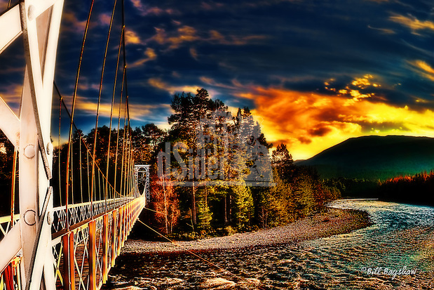 Invercauld Georgian suspension bridge over the Scottish River Dee near Braemar Scotland. Invercauld bridge; on Royal Deeside; is unusually decorative. It was built in 1924 during the reign of King George.  www.dsider.co.uk dsider whats on guide Royal Deeside, photography courses. Photography by Bill Bagshaw (Bill Bagshaw & Martin Williams/Bill Bagshaw, dsider.co.uk)