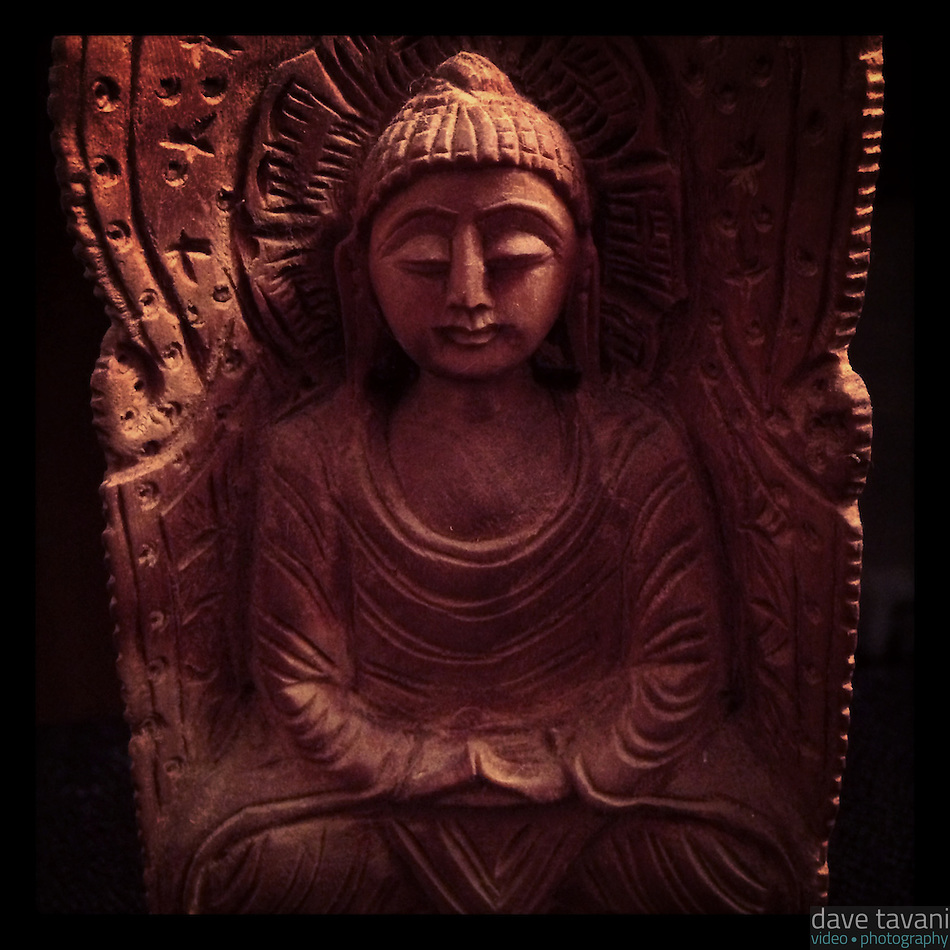 My Buddha statue ponders enlightenment on March 6, 2013. (Dave Tavani)