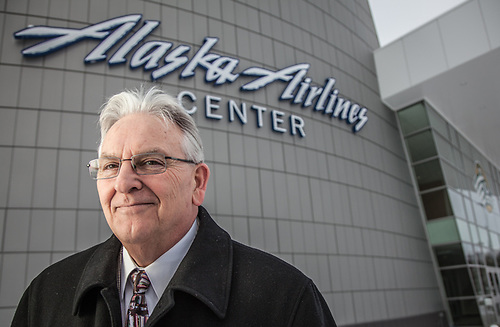 UAA Athletic Director Keith Hackett at the Alaska Airlines Center (© Clark James Mishler)