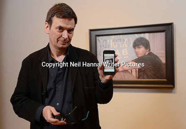 Ian Rankin & his portrait gifted to Scottish National Portrait Gallery by Alexander McCall Smith 18th February 2013 Photograph by Neil Hanna/Writer Pictures WORLD RIGHTS (Must Credit: Neil Hanna/Writer Pictures)