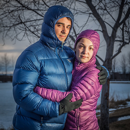 Alex and Aliki Joannides at Westchester Lagoon, Anchorage (© Clark James Mishler)