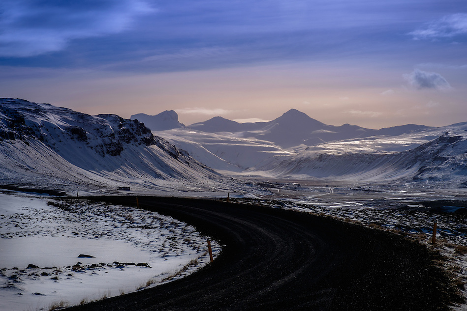 ICELAND - CIRCA MARCH 2015: Route 1 over the Snaefellsness Peninsula in Iceland. (Daniel Korzeniewski)