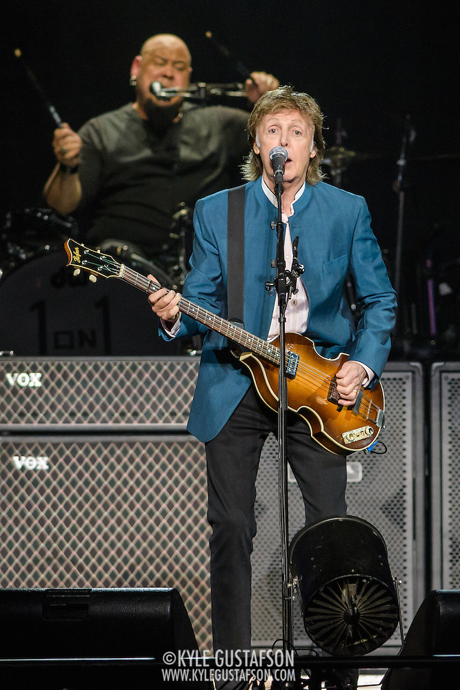 WASHINGTON, D.C. - August 9th, 2016 -  Abe Laboriel Jr. and Sir Paul McCartney perform at the Verizon Center in Washington, D.C. as part of his One on One Tour.  McCartney performed over 30 songs, including songs from The Beatles, The Quarreymen, Wings as well as his solo material.  (Photo by Kyle Gustafson / For The Washington Post) (Photo by Kyle Gustafson/For The Washington Post)