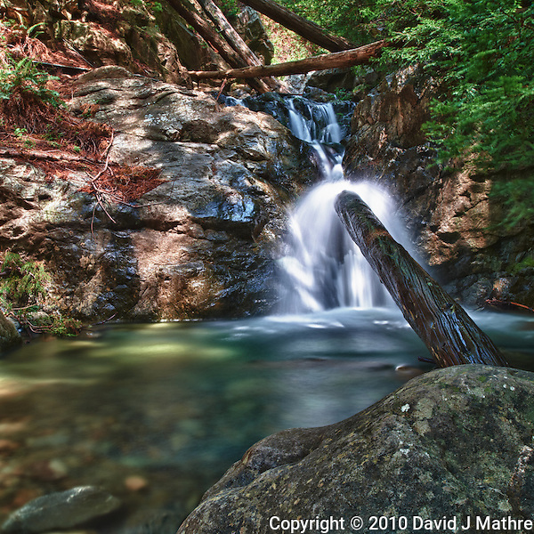 Redwood Gulch Waterfall, HDR Exercise. Image(s) taken with a Nikon D3x and 24 mm f/3.5 PC-E lens Singh-Ray filters (ISO 100, 24 mm, f/16, 2.5 to 30 sec). Raw image processed with Capture One Pro, Nik HDR Efex Pro - Realistic Strong. (David J Mathre)