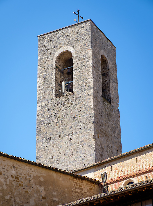 SAN GIMIGNANO, ITALY - CIRCA MAY 2015:  Tower in the medieval walled city of San Gimignano in Tuscany (Daniel Korzeniewski)