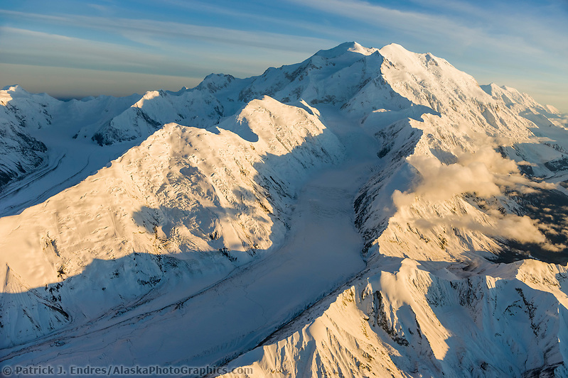Muldrow Glacier Flows Between Carpe (left) And Pioneer (right) Ridges, Down The Western Side Of Mt. Denali, North America's Tallest Mountain, Denali National Park, Alaska. (Patrick J. Endres / AlaskaPhotoGraphics.com)