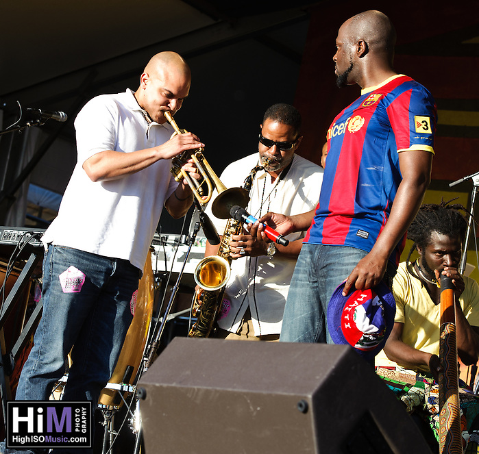 Wycliff Jean and his band at Jazz Fest 2011 in New Orleans, LA. (Golden G. Richard III)