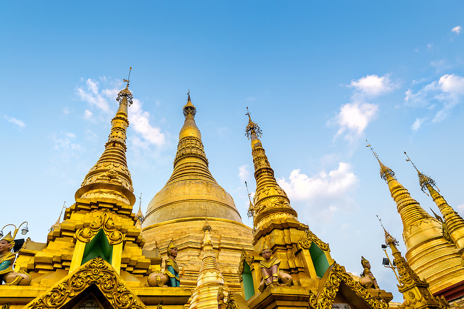 YANGON, MYANMAR - CIRCA DECEMBER 2013: Architectural detail of the Shwedagon Pagoda in Yangon (Daniel Korzeniewski)