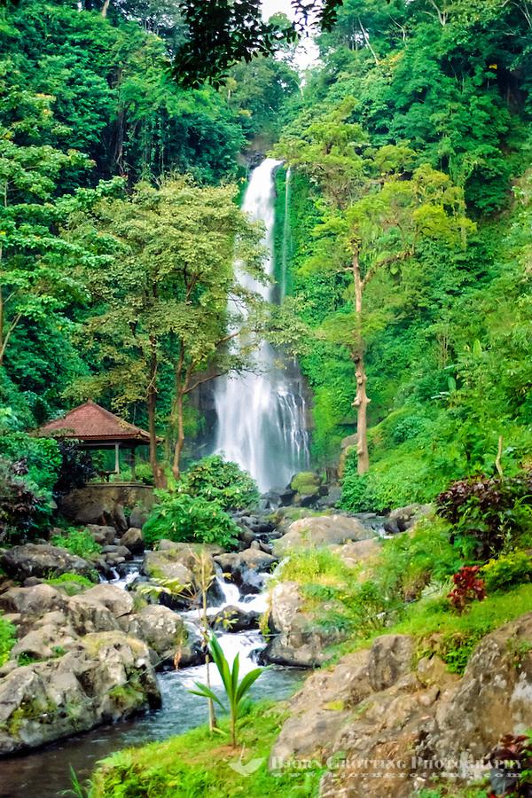 Bali, Buleleng, Singaraja. The Gitgit waterfall south of Singaraja is a popular attraction. (Photo Bjorn Grotting)