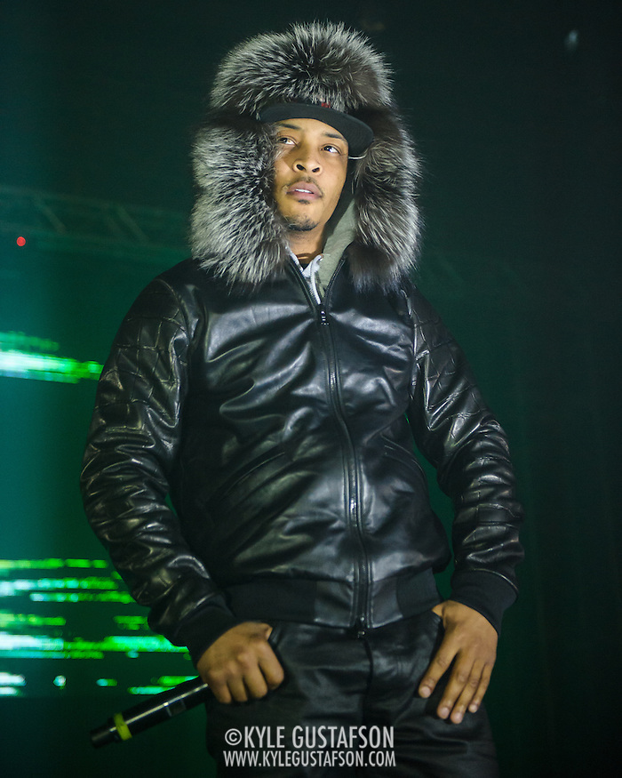 """WASHINGTON, D.C. - January 16th, 2014 - T.I. performs at Echostage in Washington, D.C. His ninth studio album, Paperwork, was released in late 2014 and features the singles """"About the Money"""", """"No Mediocre"""" and """"New National Anthem"""". (Photo by Kyle Gustafson / For The Washington Post) (Kyle Gustafson/For The Washington Post)"""