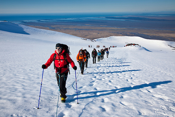 66 North trip. Hiking Hvannadalshnúkur, Icelands highest peak at 2110m. (Christopher Lund/©2011 Christopher Lund)