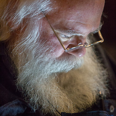 Santa Claus (yes, that's his legal name) checks his phone messages at the ATIA Conference in Fairbanks (© Clark James Mishler)